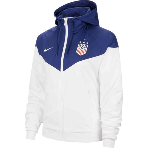 Womens Nike 4-Star USWNT Windrunner Jacket – White & Blue Void