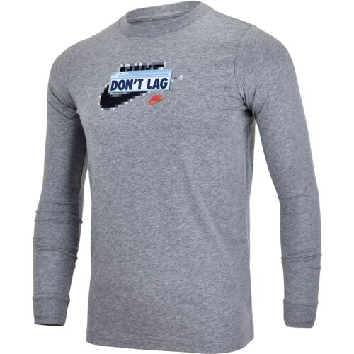"Kids Nike ""Future Fast"" L/S Tee – Dark Grey Heather"