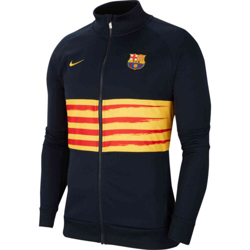 Kids Nike Barcelona El Clasico I96 Track Jacket – Dark Obsidian/Varsity Maize