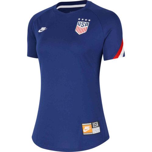 Womens Nike USA Pre-match Top – Loyal Blue/White/White