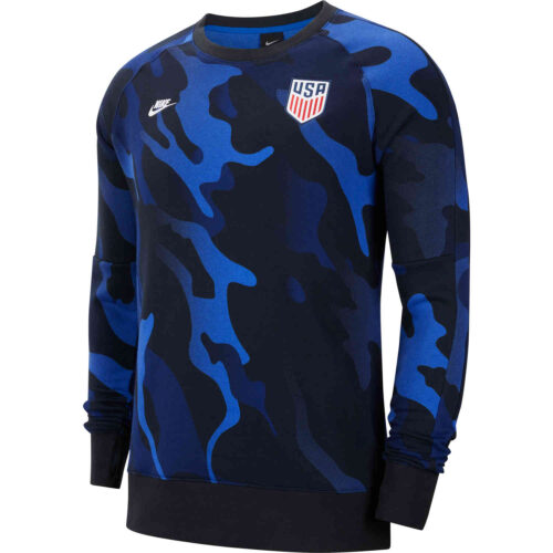 Nike USA L/S Fleece Crew – Black & White