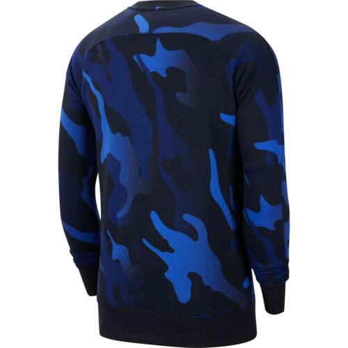 Nike USA L/S Fleece Crew – Black & White