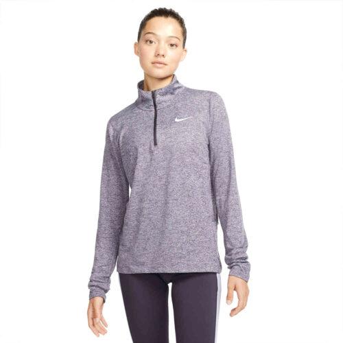 Womens Nike Element 1/2 zip Training Top – Cave Purple/Indigo Haze/Reflective Silv