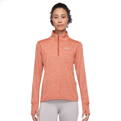 Womens Nike Element 1/2 zip Training Top – Burnt Sunrise/Reflective Silv