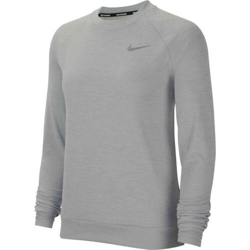 Womens Nike Pacer Crew – Lt Smoke Grey/Htr/Reflective Silv