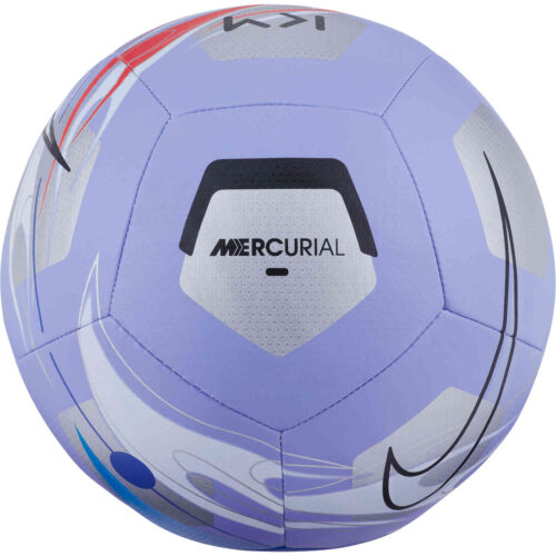 Nike Kylian Mbappe Pitch Soccer Ball – Light Thistle & Silver with Black