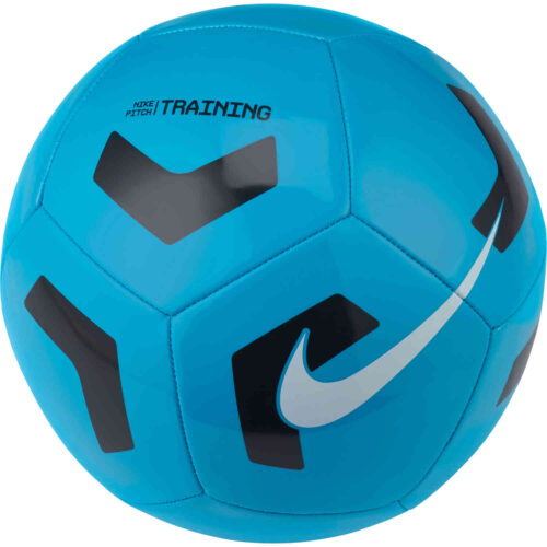 Nike Pitch Training Soccer Ball – Light Blue Fury & Black with White