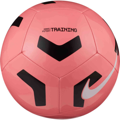 Nike Pitch Training Soccer Ball – Sunset Pulse & Black with White