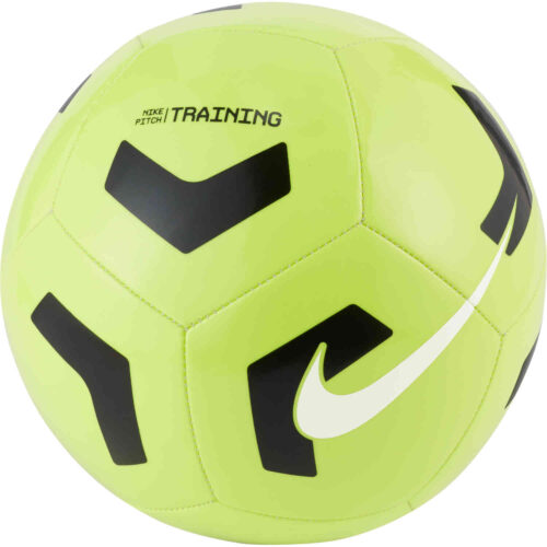 Nike Pitch Training Soccer Ball – Volt & Black with White