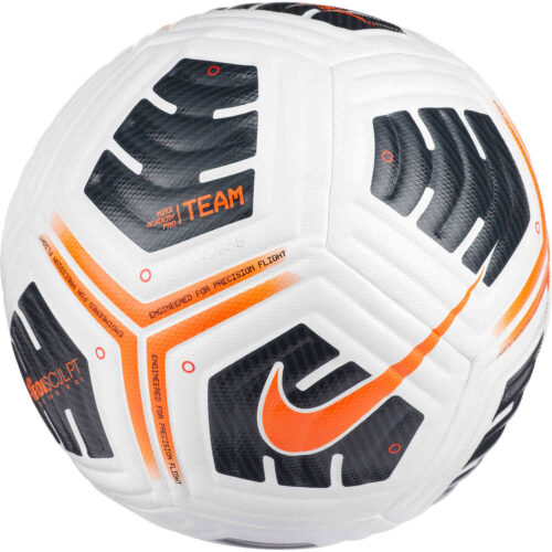 Nike Academy Pro Soccer Ball – White & Black with Total Orange