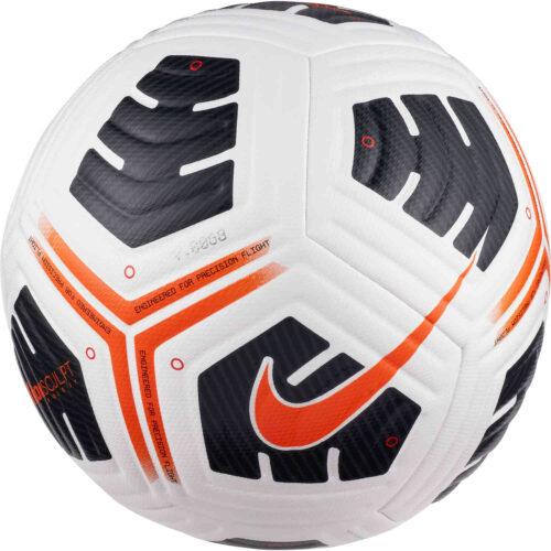 Kids Nike Academy Pro Soccer Ball – White & Black with Total Orange