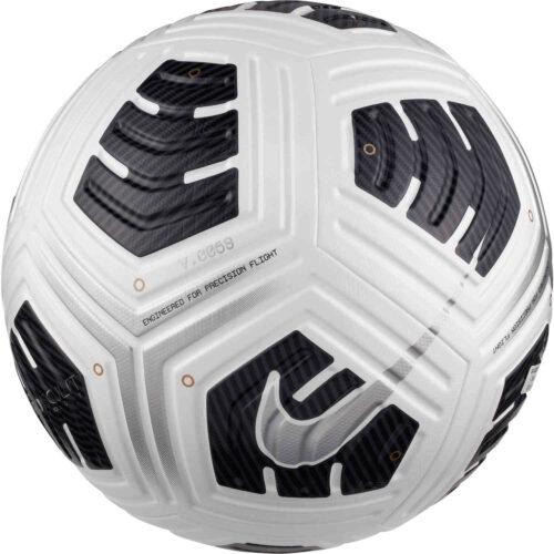 Nike NFHS Club Elite Match Soccer Ball – White & Black with Metallic Silver