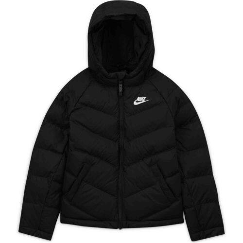 Kids Nike Sportswear Synthetic Fill Jacket – Black/Black/Black/White