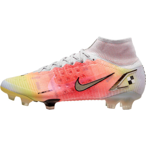 Nike Dream Speed Mercurial Superfly 8 Elite FG – White & Metallic Silver with Pure Platinum