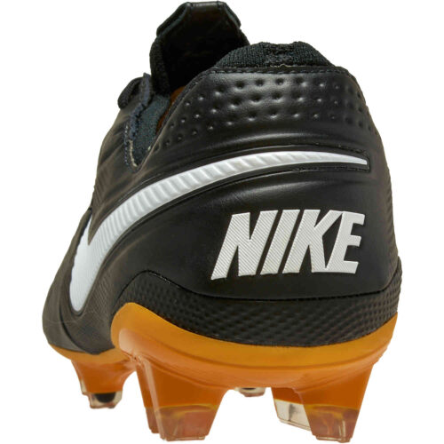 Nike Tech Craft Tiempo Legend 8 Elite FG – Black & White with Pro Gold with Metallic Gold