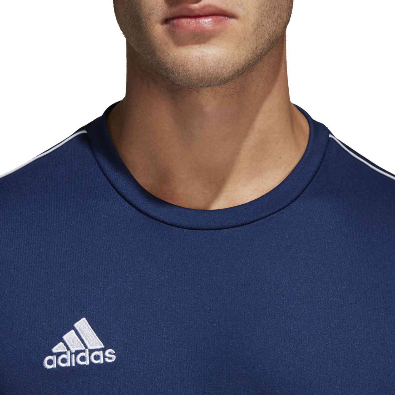 adidas Core 18 Training Jersey - Dark Blue/White - SoccerPro