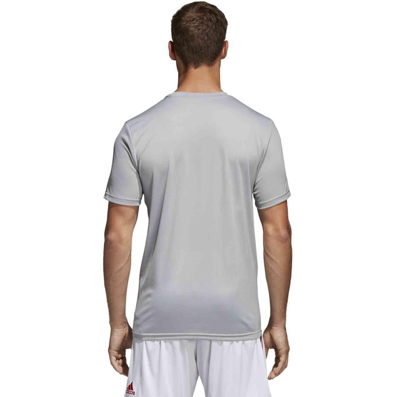 adidas Core 18 Training Jersey - Stone/White - SoccerPro