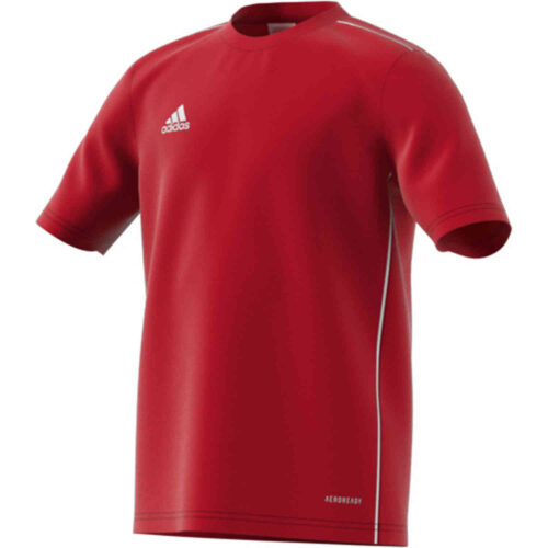 Kids adidas Core 18 Training Jersey – Power Red/White