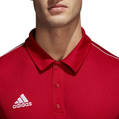 adidas Core 18 Polo – Power Red/White