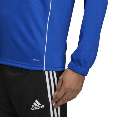 adidas Core 18 1/4 zip Training Top – Bold Blue/White