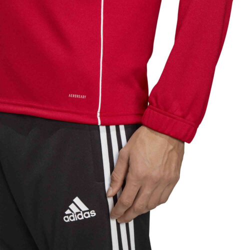 adidas Core 18 1/4 zip Training Top – Power Red/White