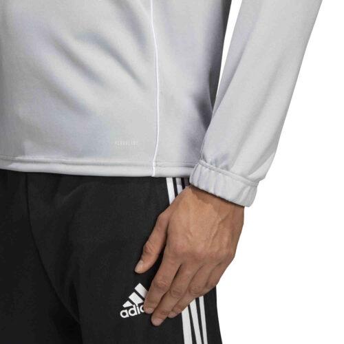 adidas Core 18 1/4 zip Training Top – Stone/White