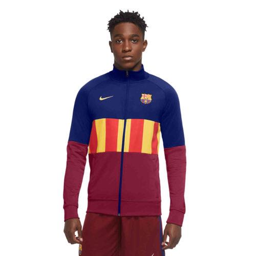 Nike Barcelona El Clasico I96 Anthem Track Jacket – Deep Royal Blue/Noble Red/Amarillo