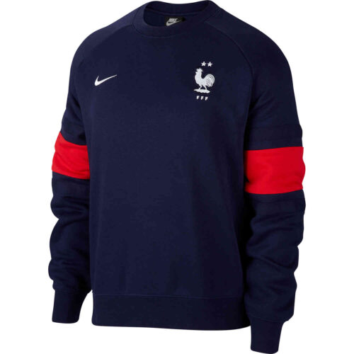 Nike Air France Fleece Crew – Blackened Blue & University Red