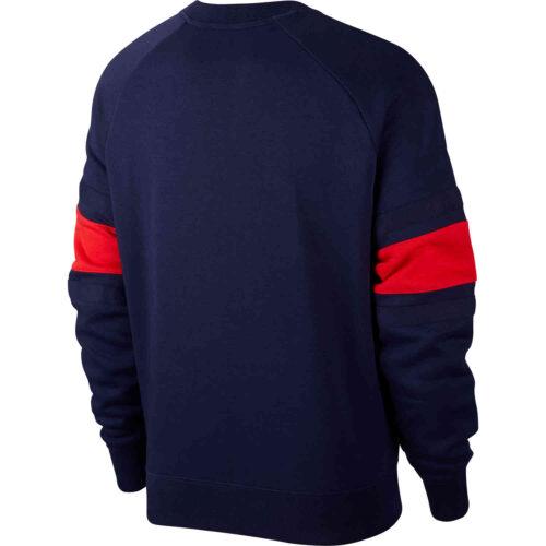 Nike Air France Fleece Crew – Blackened Blue & University Red