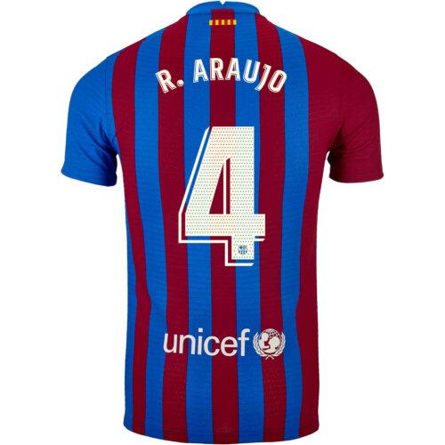 2021/22 Nike Ronald Araujo Barcelona Home Match Jersey