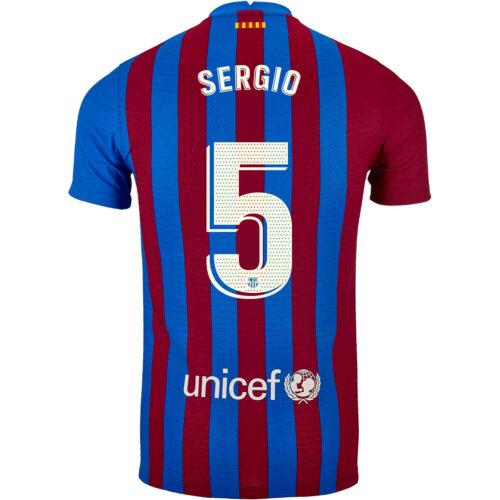 2021/22 Nike Sergio Busquets Barcelona Home Match Jersey