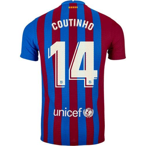 2021/22 Nike Philippe Coutinho Barcelona Home Match Jersey