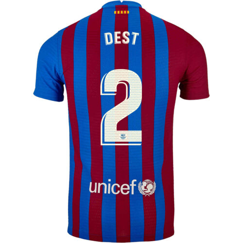 2021/22 Nike Sergino Dest Barcelona Home Match Jersey