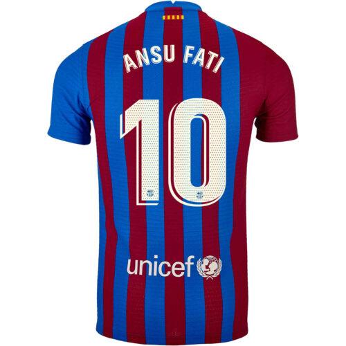2021/22 Nike Ansu Fati Barcelona Home Match Jersey
