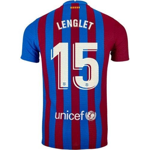 2021/22 Nike Clement Lenglet Barcelona Home Match Jersey