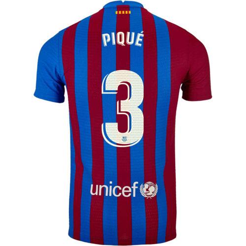 2021/22 Nike Gerard Pique Barcelona Home Match Jersey
