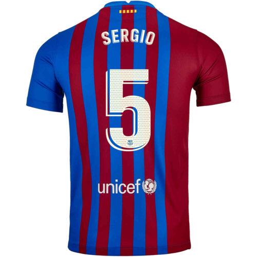 2021/22 Nike Sergio Busquets Barcelona Home Jersey