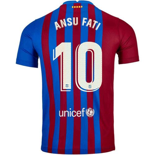2021/22 Nike Ansu Fati Barcelona Home Jersey