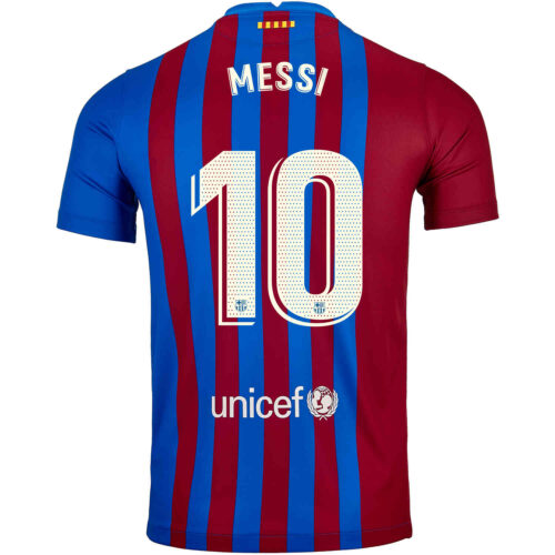 2021/22 Nike Lionel Messi Barcelona Home Jersey