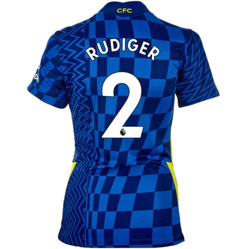 2021/22 Womens Nike Antonio Rudiger Chelsea Home Jersey