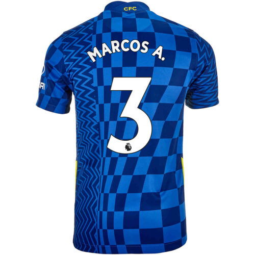 2021/22 Kids Nike Marcos Alonso Chelsea Home Jersey