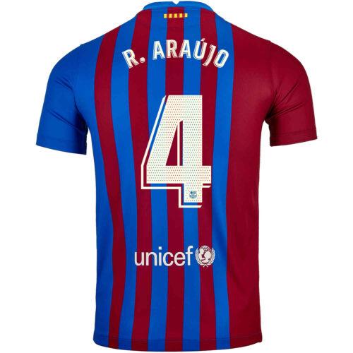 2021/22 Kids Nike Ronald Araujo Barcelona Home Jersey