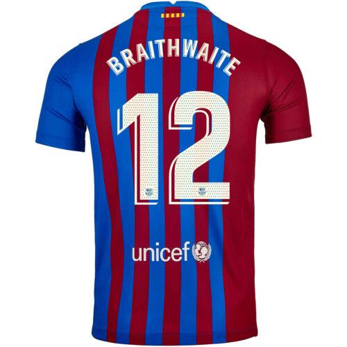 2021/22 Kids Nike Martin Braithwaite Barcelona Home Jersey
