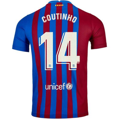 2021/22 Kids Nike Philippe Coutinho Barcelona Home Jersey