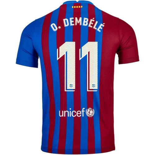 2021/22 Kids Nike Ousmane Dembele Barcelona Home Jersey