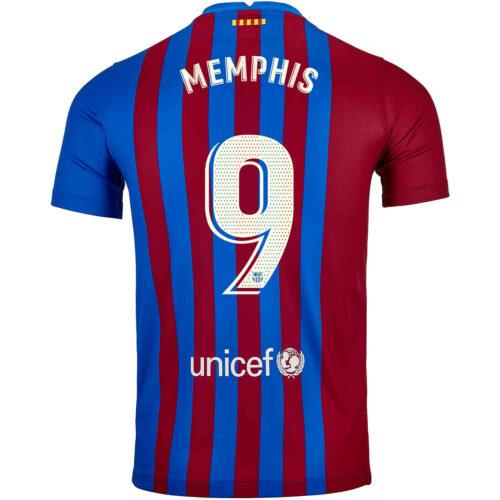 2021/22 Kids Nike Memphis Depay Barcelona Home Jersey
