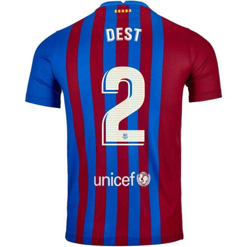 2021/22 Kids Nike Sergino Dest Barcelona Home Jersey