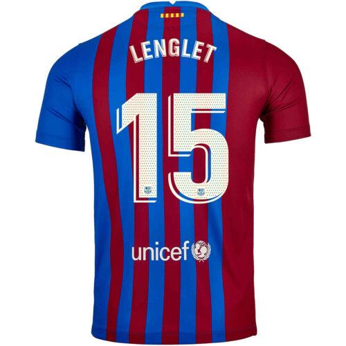 2021/22 Kids Nike Clement Lenglet Barcelona Home Jersey