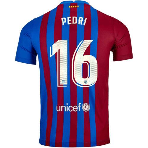 2021/22 Kids Nike Pedri Barcelona Home Jersey