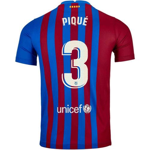 2021/22 Kids Nike Gerard Pique Barcelona Home Jersey